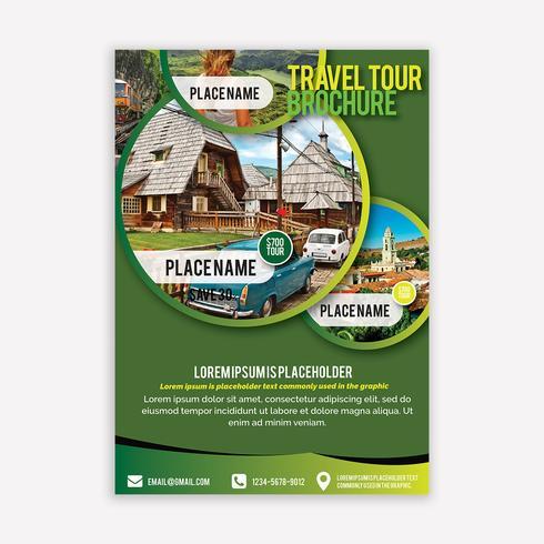 Brochure di viaggio vettore