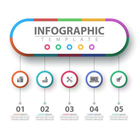 Business infographic. Papper origami mall. vektor