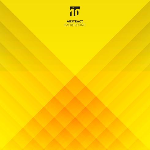 Het abstracte geometrische en vierkante patroon van de overlappingslaag op gele achtergrond. vector