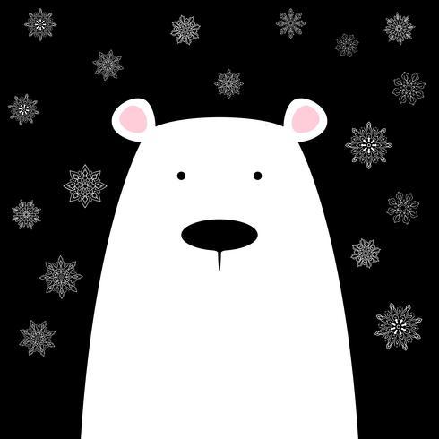 Urso polar bonito engraçado.