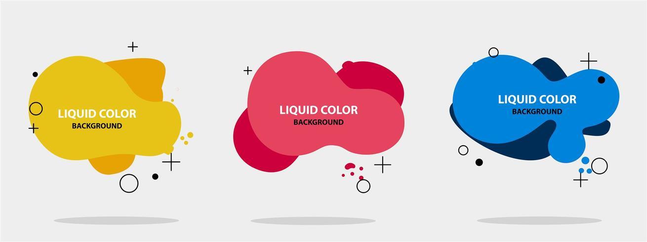 Abstract liquid shape modern banner template. vector