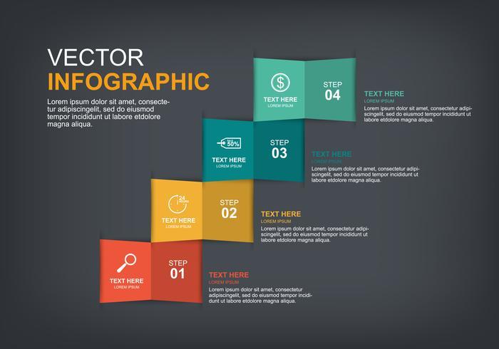 design de elementos infográfico com 4 opções vetor
