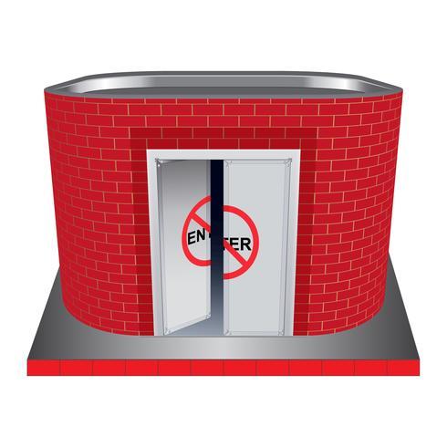 Utility gebouw van rode baksteen vector