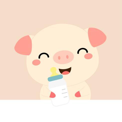 Bebê bonito dos desenhos animados Porco.