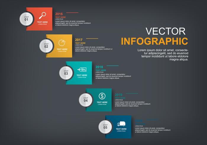 infographic elementenontwerp met 5 opties vector