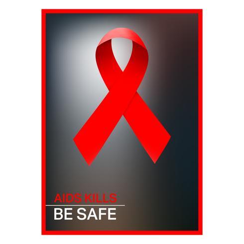 AIDS-lintaffiche vector