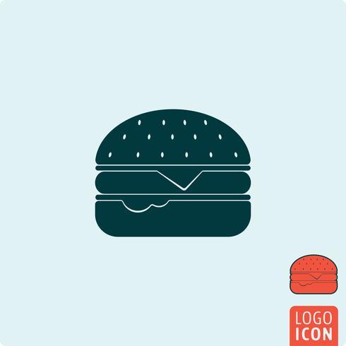 Icona di hamburger isolato
