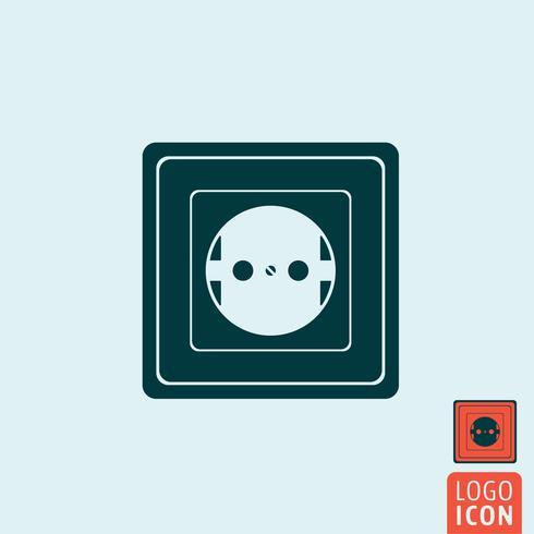 Icono de toma de corriente aislado. vector