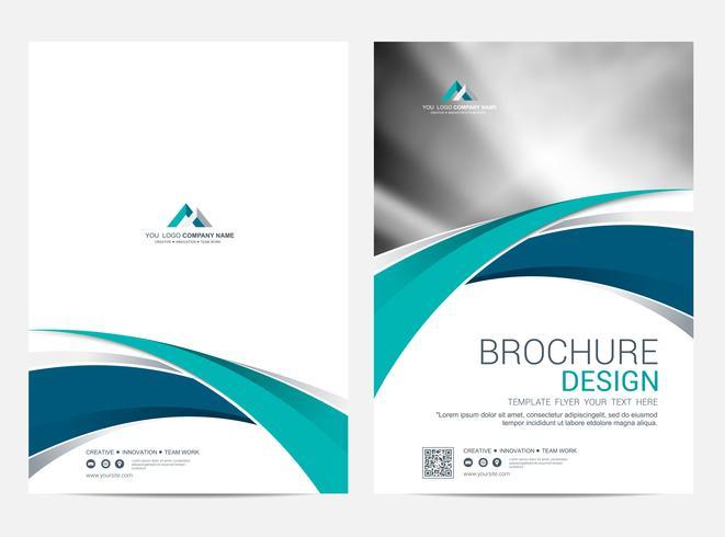 Plantilla de diseño de folleto, fondo de diseño de portada vector