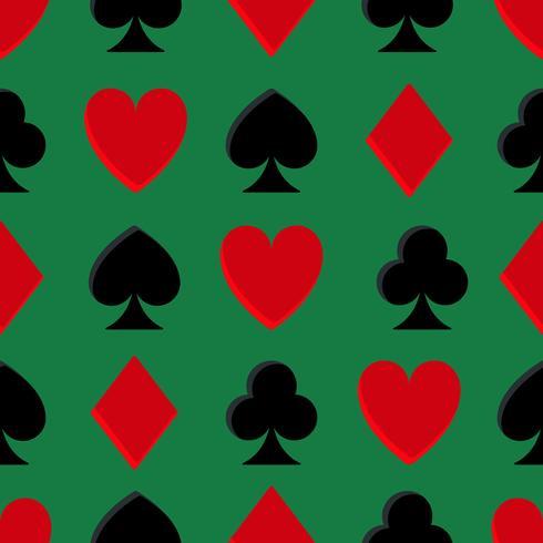 Casino Poker nahtlose Muster vektor