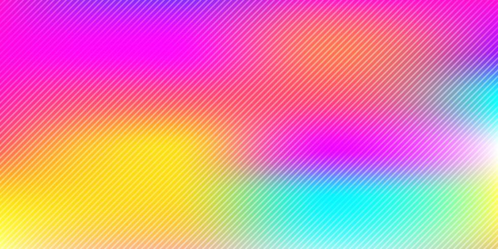 Abstract colorful rainbow blurred background with diagonal lines pattern texture vector