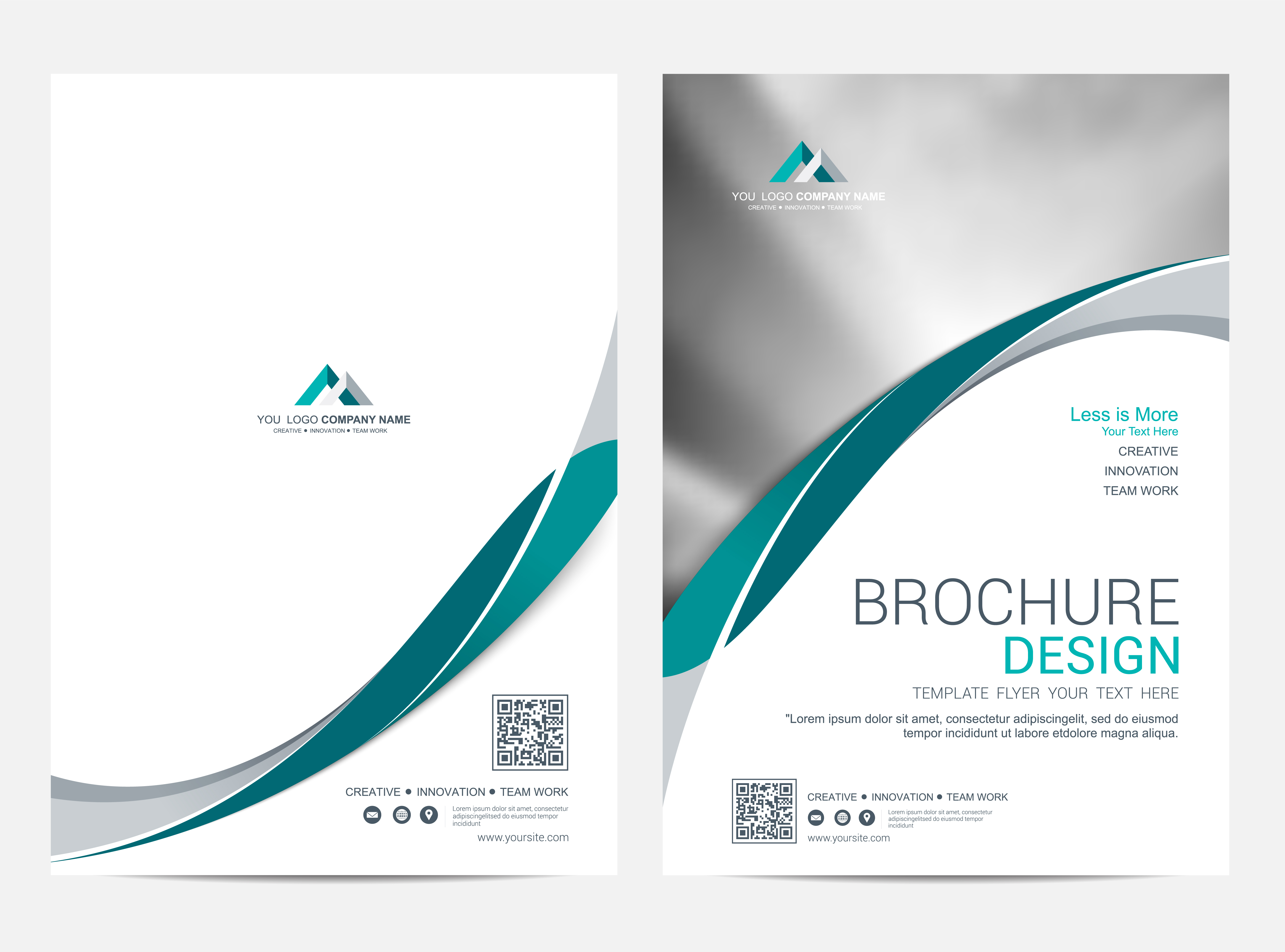brochure layout template  cover design background