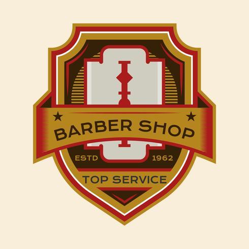 Emblema de barbeiro bonito