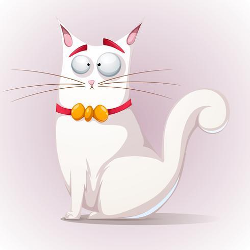 Gato bonito, engraçado com arco.