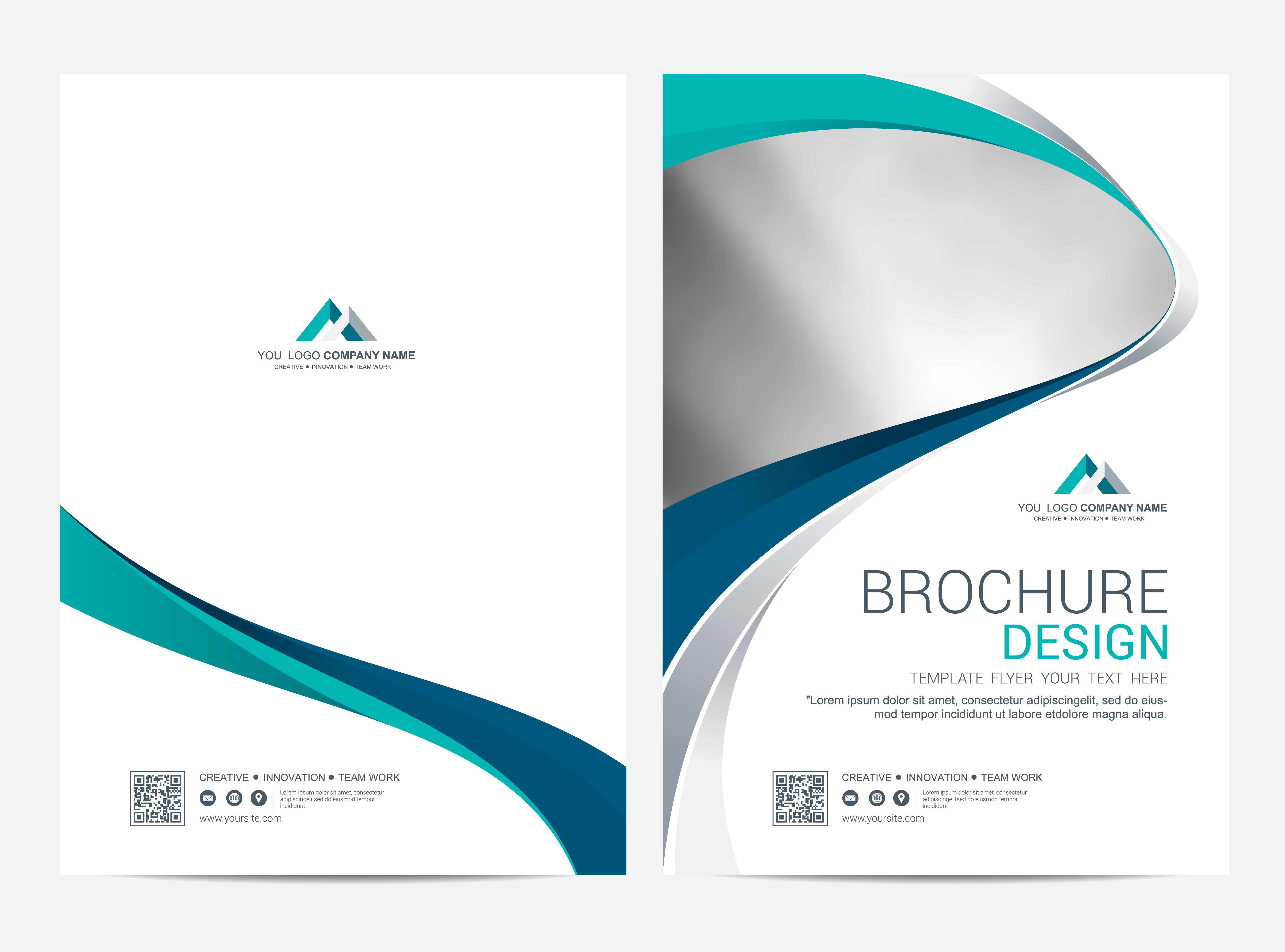 Brochure Layout template, cover design background ...