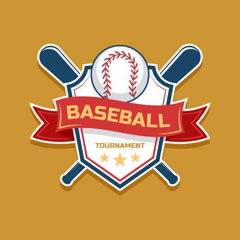 Honkbal emblemen instellen vector