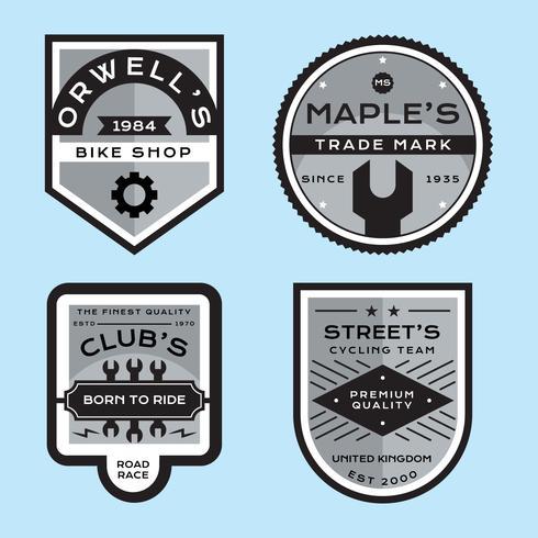 Impostare i distintivi della bici di vettore