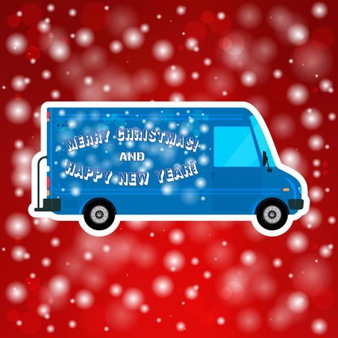 Julbuss isolerad vektor