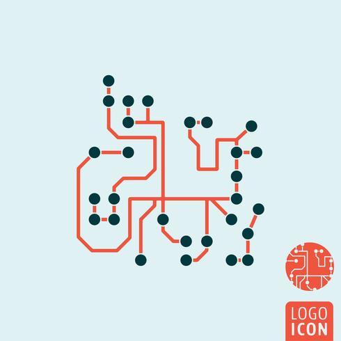 Ícone de chip de computador isolado