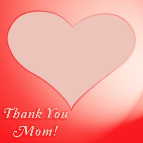 Obrigado cartão da mamã vetor