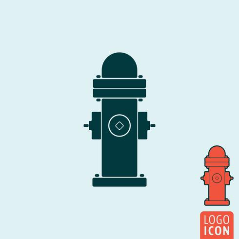 Icono de la boca de incendios aislado.