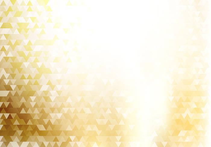 Abstraktes Goldgeometrischer Hippie-Dreieckmusterhintergrund und -beschaffenheit mit Lichteffekt