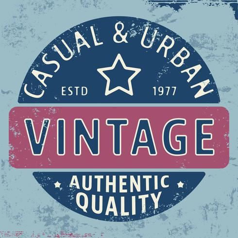 Sello vintage urbano casual