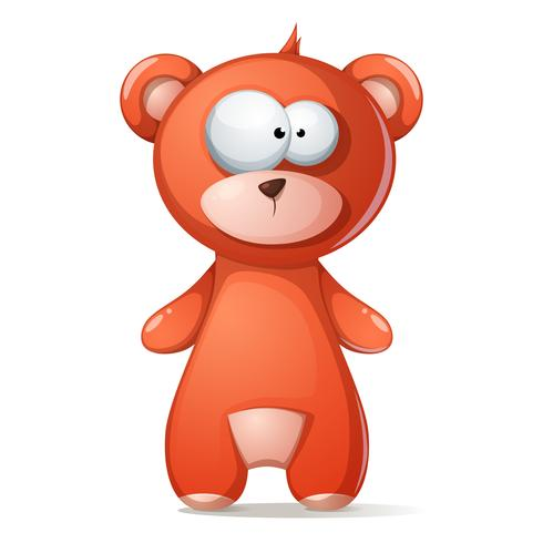 Cute, funny brown bear, grizzly, teddy.