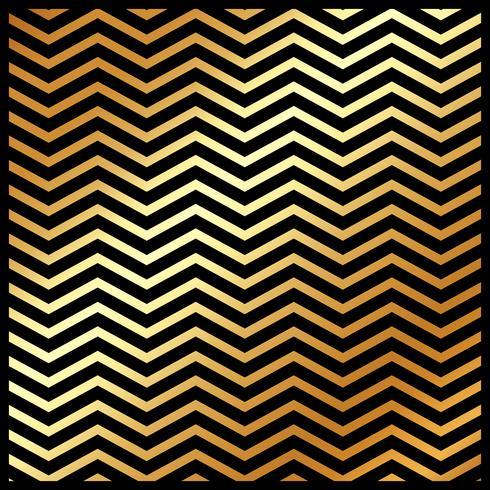 Abstrakt guldfärg chevron mönster på svart färg bakgrund och konsistens.