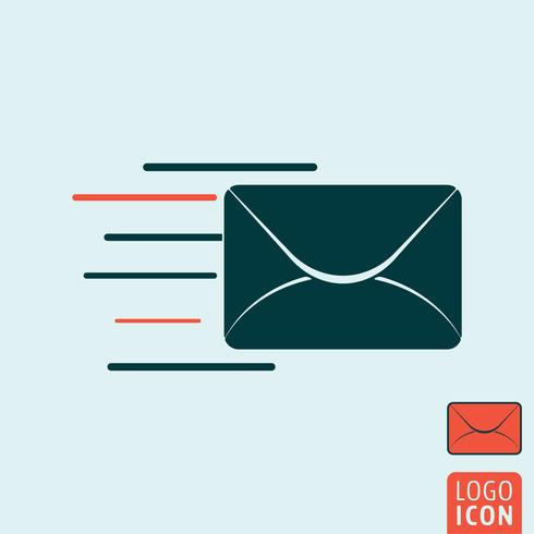Message icon isolated. vector
