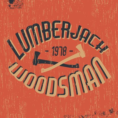 Lumberjack woodsman stamp
