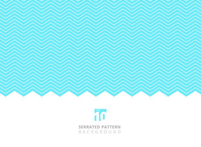 Modello di linee dentellate di colore bianco astratto su fondo blu con lo spazio della copia.