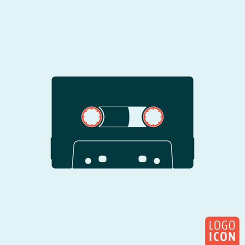 Cassette icon isolée vecteur