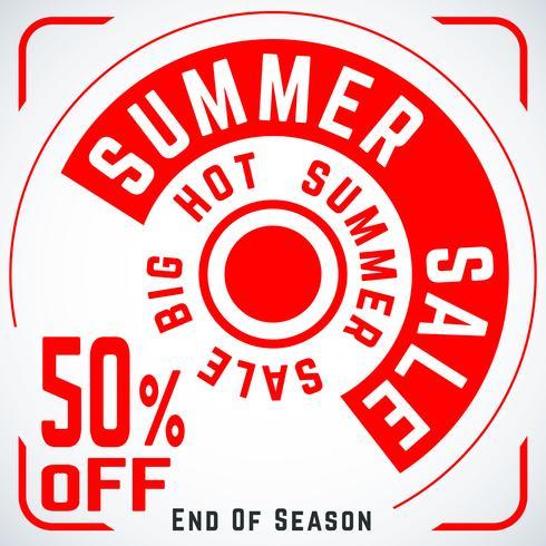 Cartaz de venda redonda de verão
