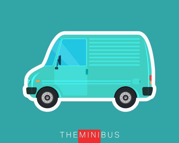 Mini furgoneta aislada vector