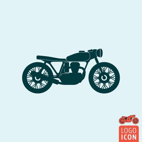 Icono de la motocicleta aislado vector