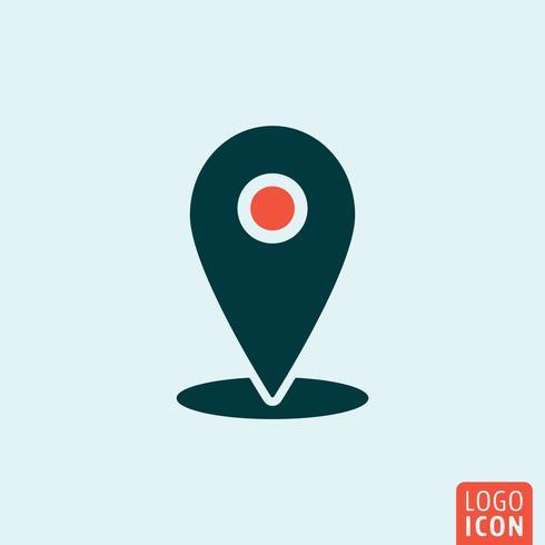 Ícone de marca de localização vetor