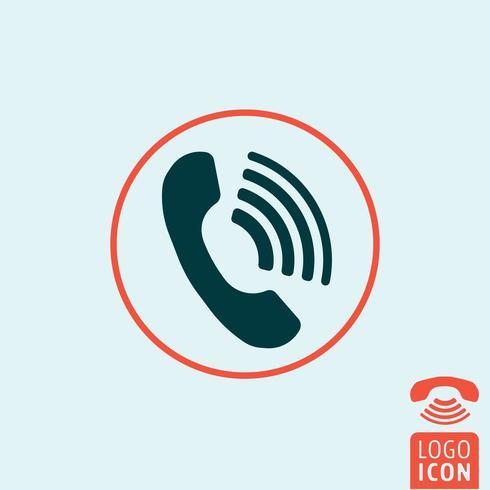 Ícone do telefone isolado vetor