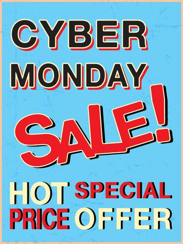 Cyber monday template vector