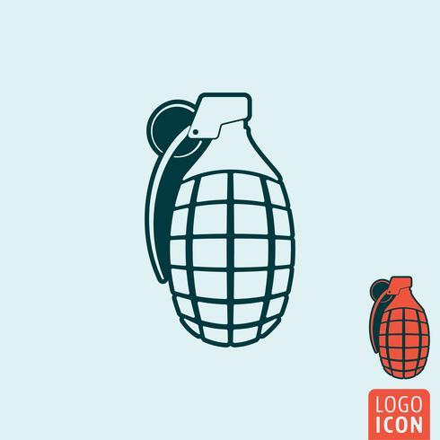 Icône de la grenade isolé vecteur