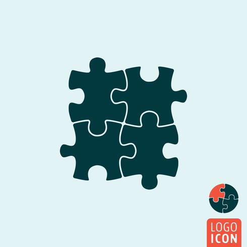 Puzzle icon isolated vector
