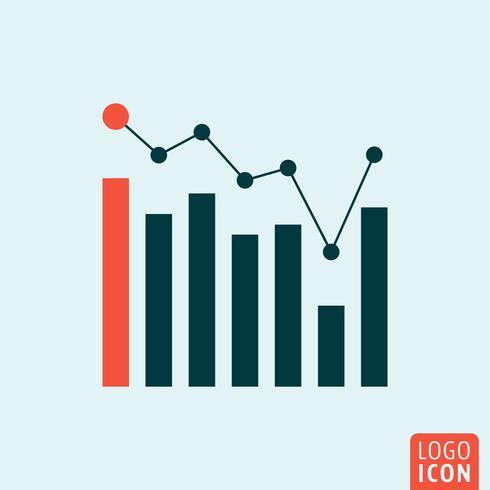 Icona di affari di infografica