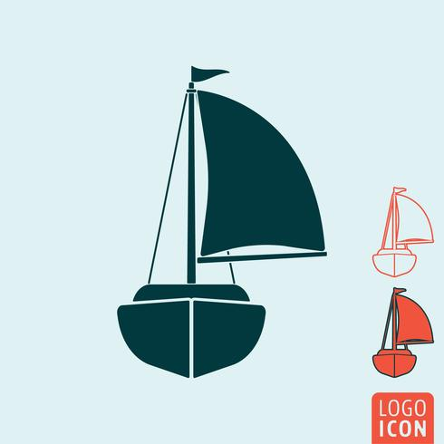 Yacht icon isolated