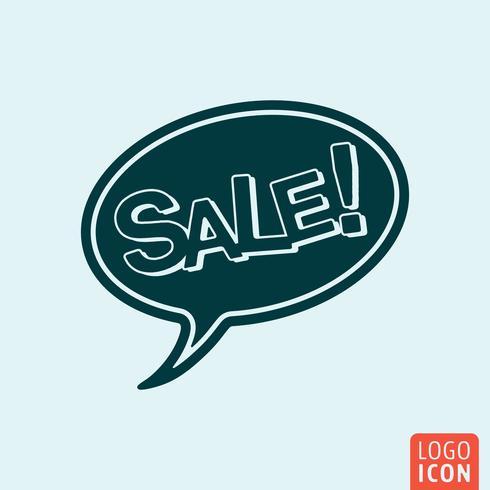 Bolha do discurso de venda vetor