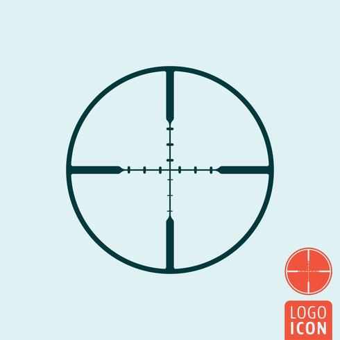 Target icon isolated