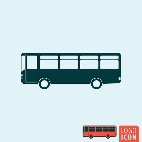Icono de bus aislado