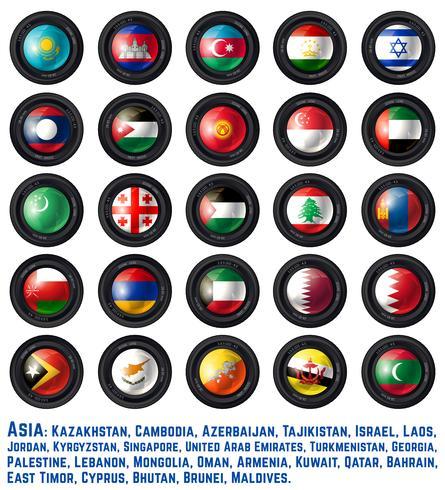 Bandeiras asiáticas dois