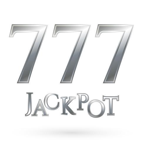Símbolo do jackpot do casino vetor