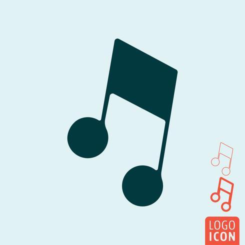 Ícone de nota de música isolado vetor