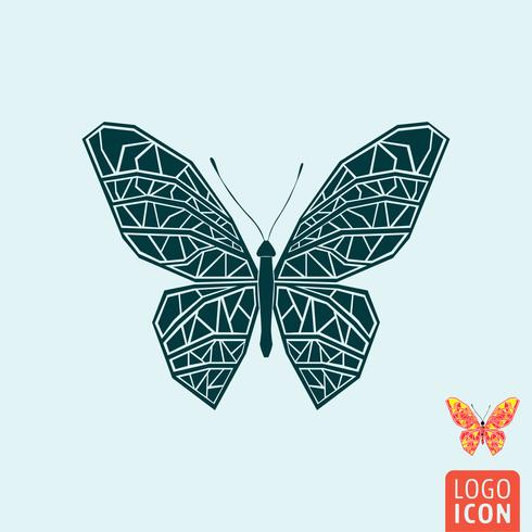 Ícone de borboleta isolado vetor
